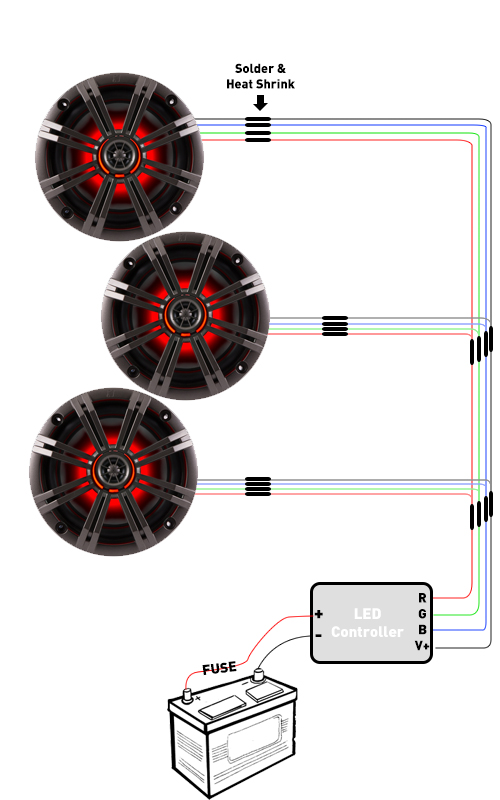 boat kicker speaker wiring diagram wiring diagram schematics • led wiring for rgb speakers and rings creative audio rh creative audio reamaze com ssv works wiring diagram kicker wiring specs
